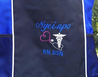 Tote Bag Personalized Nurse Nursing Midwife Doula RN BSN LPN cna Nurse Student Nicu Msn