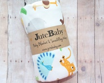 Baby Blanket & Swaddle Wrap, EVERYTHING blanket in super soft Jersey Knit by JuteBaby