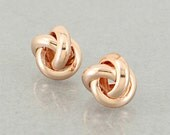 Rose Gold Forever Love Knot Earrings- Free Shipping