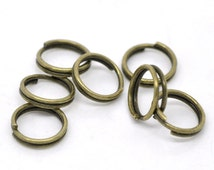 100pcs 8mm Antique Bronze Split Ring - 22 Gauge, 22 g, Jewelry Finding, Jewelry Making Supplies, Chainmaille, DIY, Ships from USA - JR63