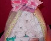 Diaper Baby Stork Baby Shower Gift Baby Girl - Diaper Cake