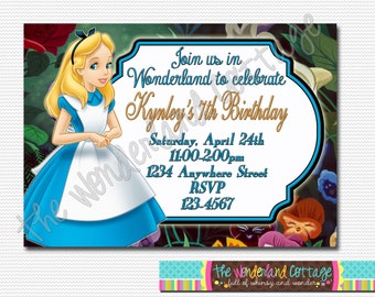 Disney Alice in Wonderland Invitation