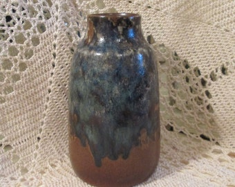 Vintage Pottery Craft, California, Brown Drip Glaze Vase