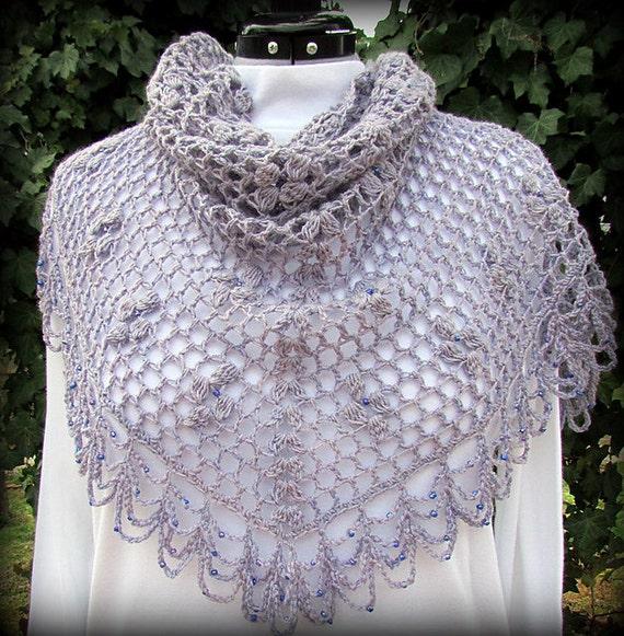 Lace Triangle Shawl Crochet Pattern : Pattern only Lady Viola Shawl pattern crochet pattern lace