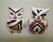 Tiny Handpainted Owls New Mexico Pottery Owls