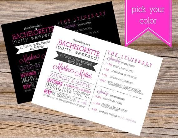 Wedding Chicks Free Invitations: Bachelorette Party Weekend Wedding Invitation DIY Printable