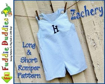 Long & Short Baby Boy's Romper Pattern pdf, Jon Jon Pattern, Longall Pattern,  pdf sewing pattern. INSTANT DOWNLOAD. Romper Pattern pdf
