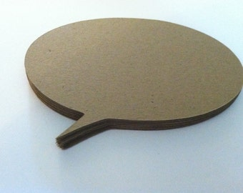 "2""  thought bubble brown kraft paper embellishments  (10 count)"