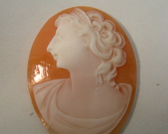 French Antique Unmounted Shell Cameo w346