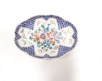Vintage French Hand Painted Faux Sevres Dish (W359)