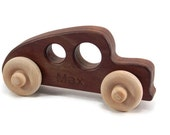 Personalized Hot Rod Toy Car - Oragnic Wooden Toys
