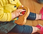 Wooden Elephant Baby Rattle - Natural and Organic Baby Toy
