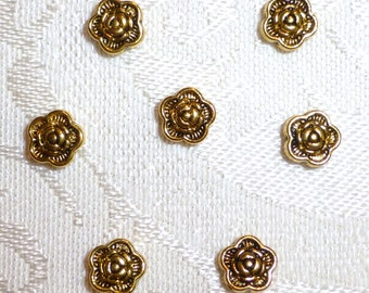 6mm X 3mm Goldtone Flower Spacer Beads - 50 in Package