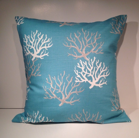 Throw Pillow Covers 20 X 20 : Decorative Throw Pillow Cover 20 x 20 Aqua Blue