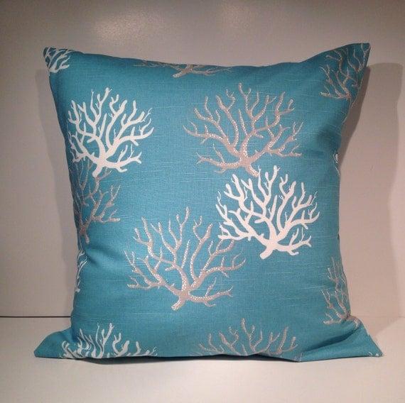 Decorative Throw Pillow Cover 20 x 20 Aqua Blue