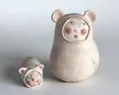 Made to order: Ceramic Ice Baby, Guardian of babies and children. Ceramic sculpture.