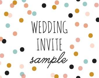 Wedding Invite Sample