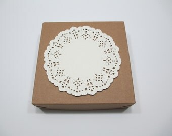 """Ivory Doilies, Ivory Doily, Ivory Paper Doilies, 100 IVORY 5.5"""" Paper Lace Doilies, CLOSEOUT SALE"""