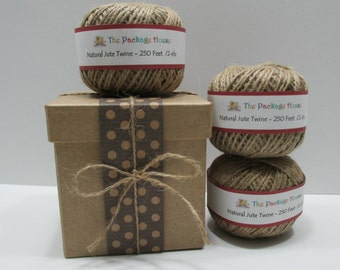 Jute Twine, Twine Ball, 250 Feet Jute Twine, All Natural Rustic Jute Twine, String 2 -ply