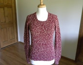 Long Sleeve Pullover Sweater, Garnet Color