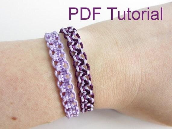 macrame knot bracelet instructions