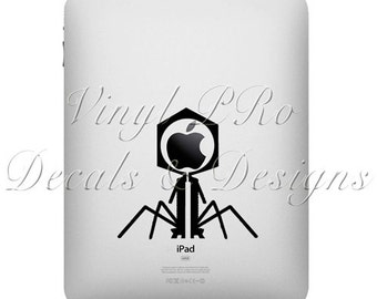 Biology Bacteriophage Microscopy Research Lab Cellular Biotech Decal for Apple ipad