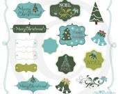 Cool Colored Holiday Graphics and Digital Paper Designs