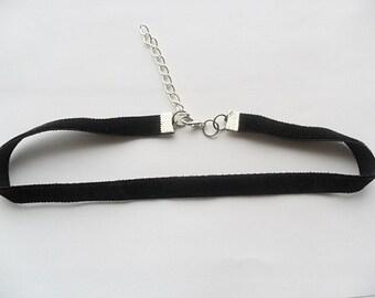 Velvet choker necklace, black velvet choker necklace