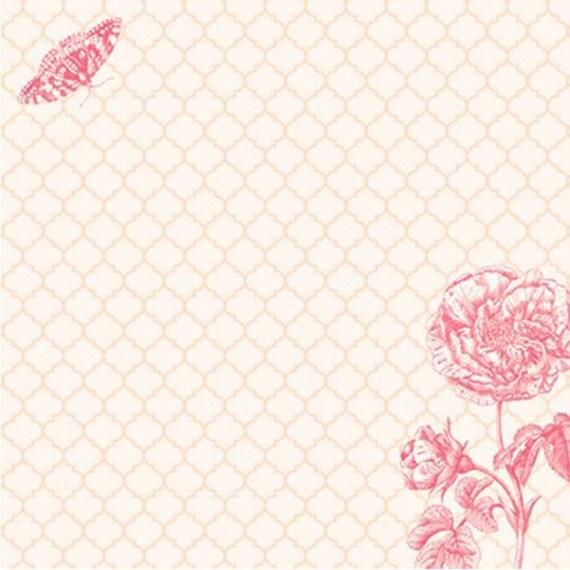 Scrapbook Paper Crate Dear Lizzy Enchanted Graceful Swan 12x12