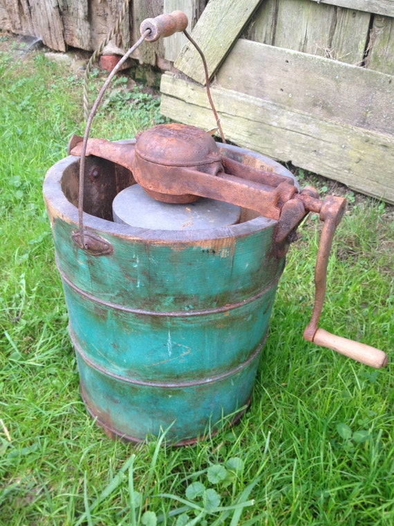 Antique Vintage Ice Cream Maker By Zassystreasures On Etsy