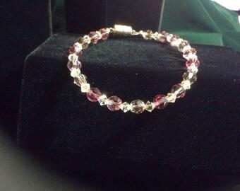 Pink swarvoski bracelet
