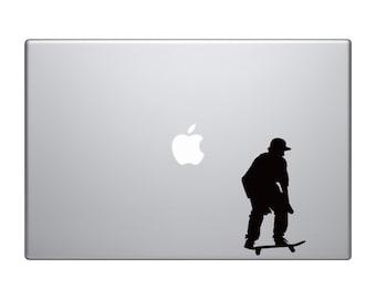 Skateboard Trick #11- Skate Shop Art Freestyle Flatland - Macbook Vinyl Sticker Decal Mac Apple Laptop iPad