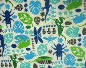CLEARANCE Kawaii Fabric in Bugaboo, Blue, by the yard