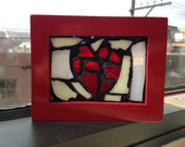 Glass Mosaic Window Art - Small - From the Heart