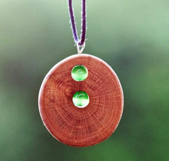 tree branch necklace - tree branch pendant  - beaded tree branch necklace - reclaimed tree branch