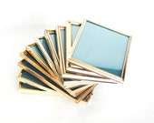 RESERVED Gold Metal Picture Frames 5X7 Set of 15 Instant Collection Vintage Retro 1960 1970 Home Decor Decorating