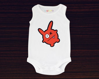 Babua Baby Romper/Jumpsuit - 'George' Red