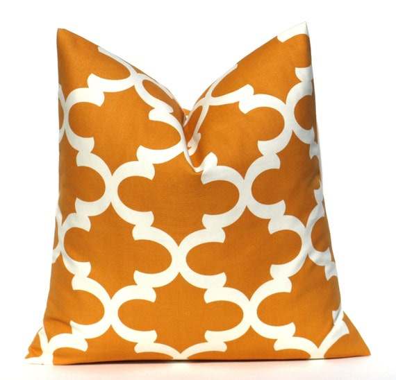 Orange Pillow Cover Decorative Pillow Throw by EastAndNest