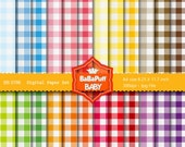 Buy 2 Get 2 Free ---- Gingham Digital Papers ---- Personal and Small Commercial Use ---- BB 0766