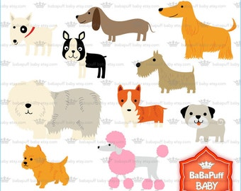 Buy 2 Get 2 Free ---- Dogs Clip Art ---- Personal and Small Commercial Use ---- BB 0397
