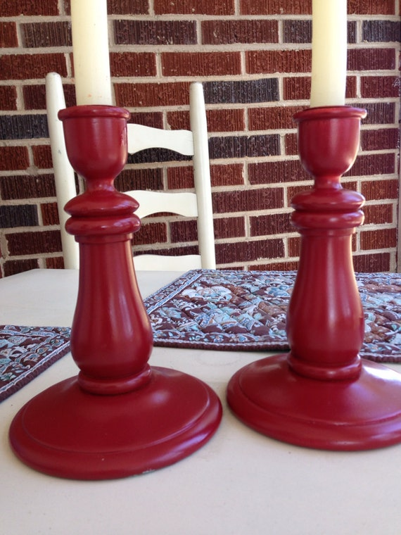 Set of red Candle Sticks