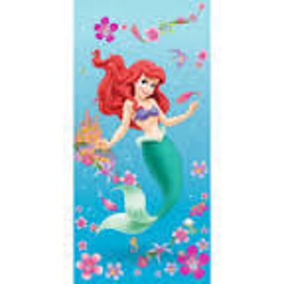 Little Mermaid Personalized Beach Towel Ariel Towel Disney