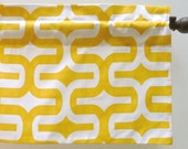 Retro Corn Yellow Kitchen Valance Handmade (curtain rod not included)