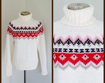 50% OFF vintage 90s hipster lsweater, womens sweater, womens hipster sweater, womens medium sweater, ski sweater