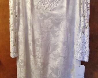 90's lacy wedding dress.