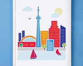 Toronto Canada Art Print for Nursery or Children's Room Decor