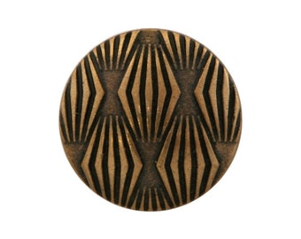 3 Moguls 5/8 inch ( 15 mm ) Metal Buttons Antique Brass Color