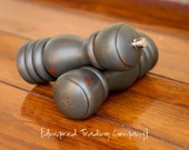 CHOOSE YOUR COLOR - Painted,Distressed, Wooden Pepper Mill and Salt Shaker - Shabby Chic Kitchen Accessory - Graphite
