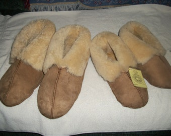 GENUINE Handcrafted  MENS Sheepskins Slippers Small,Medium, and Large