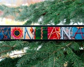 WORDS Inspired By Nature:  MONTANA in red, orange, blue, and green (photography, handmade gift, inspirational art, wall decor)